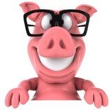 Cerdo y vidrios stock de ilustración