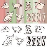 Cerdos stock de ilustración