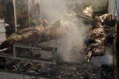 Cerdos asados Imagen de archivo