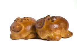 Cerdos cocidos al horno Imágenes de archivo libres de regalías