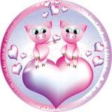 Cerdos en el círculo. Imagenes de archivo