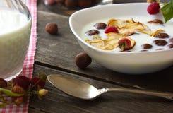 Cereais, café da manhã, Foto de Stock