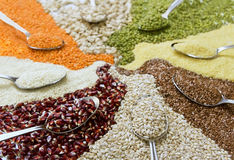 Cereais coloridos diferentes Imagens de Stock