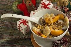 Cereais de café da manhã do Natal Fotografia de Stock