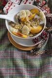 Cereais de café da manhã do Natal imagens de stock