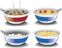 Cereais de café da manhã sortidos ilustração stock