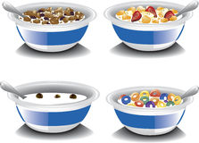 Cereais de café da manhã sortidos Imagem de Stock Royalty Free