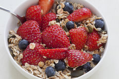 Cereais de pequeno almoço - Muesli Fotos de Stock