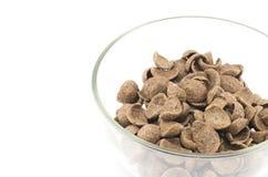 Cereais isolados no branco Fotografia de Stock