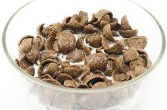 Cereais isolados no branco Foto de Stock