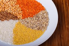 Cereais torcidos Imagens de Stock Royalty Free