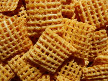 Cereal. Close of of corn chex cereal Royalty Free Stock Photography