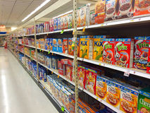 Cereal Aisle Fred Meyer Springfield, OR Royalty Free Stock Images