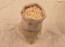 Cereal bag on kraft paper Royalty Free Stock Images