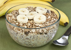 Cereal and banana Royalty Free Stock Photo