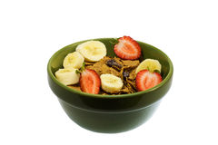 Cereal, Bananas, Strawberries Royalty Free Stock Photo