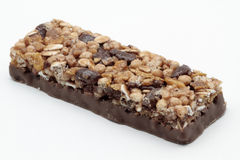 Cereal bar. Delicious cereal bar on white background Royalty Free Stock Photos