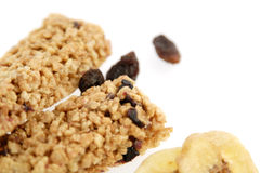 Cereal bar. Isolated on white stock image