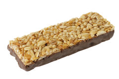 Cereal bar with chocolate Royalty Free Stock Photography