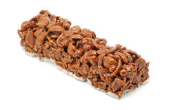 Cereal bar with chocolate Royalty Free Stock Photos