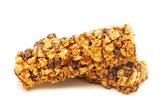 Cereal bar with chocolate Stock Photography