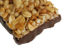 A cereal bar closeup Royalty Free Stock Photo