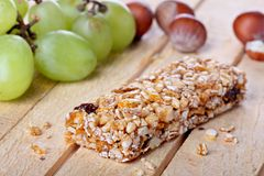 Cereal bar concept Royalty Free Stock Images