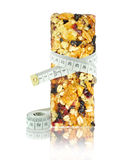 Cereal bar and meter Stock Photos