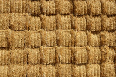 Cereal barn with square shape stack on columns Royalty Free Stock Photo