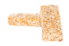 Cereal Bars. Two cereal bars with blank space to write a text Royalty Free Stock Photography