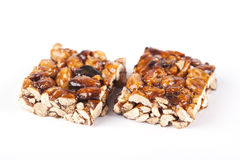 Cereal bars with almods and honey Stock Photo