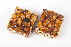 Cereal bars with almods and honey Royalty Free Stock Image