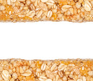 Cereal Bars Border. With blank space to write a text Royalty Free Stock Image