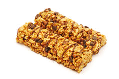 Cereal bars with chocolate Stock Photo