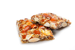 Cereal bars. Isolated on white background Royalty Free Stock Image