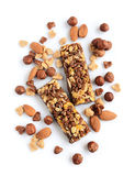 Cereal bars with nuts royalty free stock photo