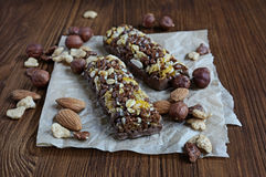 Cereal bars with nuts Stock Image