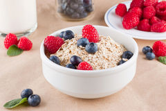 Cereal and berries Royalty Free Stock Images