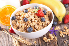 Cereal with berry fruit Stock Photography
