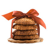 Cereal biscuits isolated Royalty Free Stock Photography