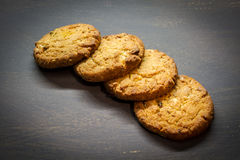 Cereal biscuits. On the side of the table Stock Photography
