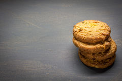 Cereal biscuits. On the side of the table Stock Image