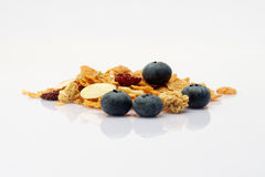Cereal with blue berries Stock Image