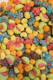 Cereal Bowl. A close-up view of colorful cereal Stock Photo