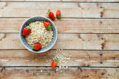 Cereal in a bowl and berries Royalty Free Stock Photos