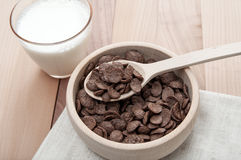 Cereal in bowl with milk Royalty Free Stock Images