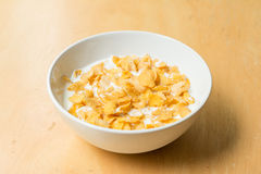 Cereal bowl with milk Royalty Free Stock Images