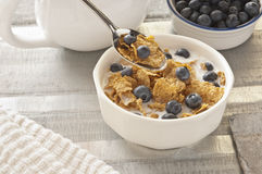 Cereal. Bowl of cereal for a mornings breakfast royalty free stock photography