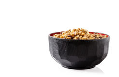 Cereal. On bowl with white background and clipping path stock photos