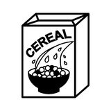 Cereal box and bowl Royalty Free Stock Image